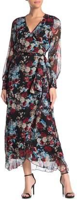 Elan International Floral Wrap Dress
