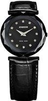 Jowissa Women's J1.023.M Safira 99 Rhinestone Black Patent Leather Watch