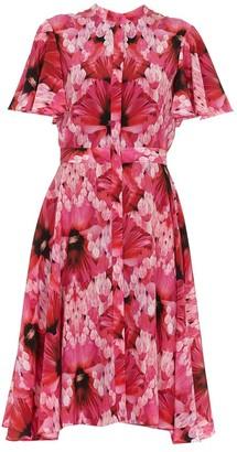 Alexander McQueen Floral Print Short Sleeved Dress