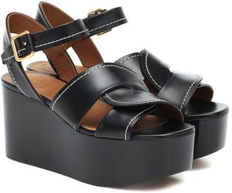 Chloé Candice leather platform sandals
