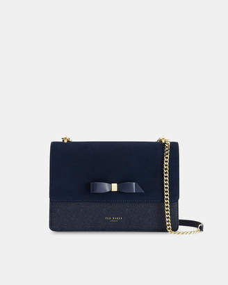 Ted Baker OLISSSA Bow detail suede trim cross body