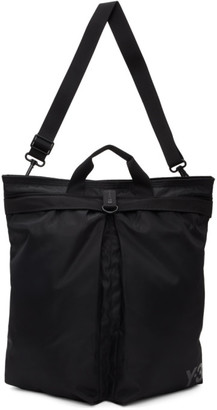 Y-3 Black Nylon Twill Tote