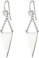French Connection Stud with Triple Mini Triangle Linear Earrings Earring