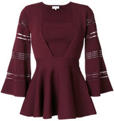 Carven flared jumper - women - Nylon/Polyester/Spandex/Elastane/Viscose - XS