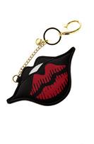 AH!DORNMENTS Black Lips Keychain