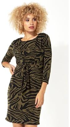 M&Co Roman Originals animal print tie front shift dress