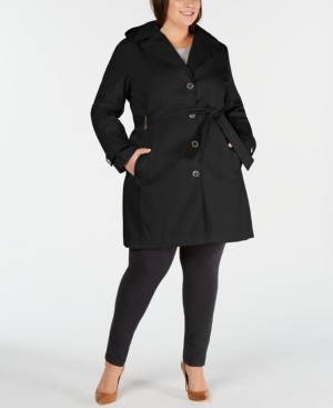 Calvin Klein Plus Size Waterproof Trench Coat, Created for Macys