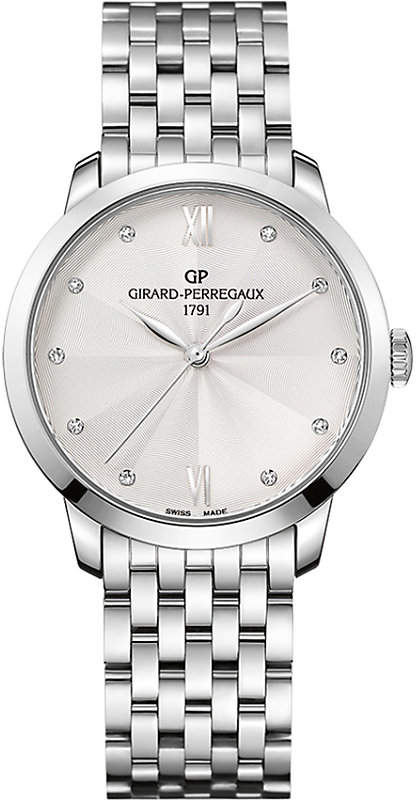 Girard Perregaux GIRARD-PERREGAUX 49523-11-171-11A 1966 stainless steel silver and diamond watch