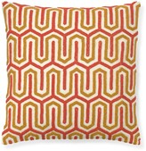 Williams-Sonoma Williams Sonoma Beaded Geo Pillow Cover, Coral/Yellow