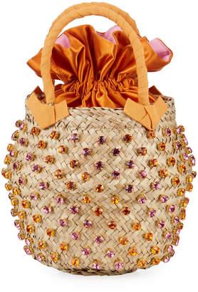 Le Nine Nina Twist Small Satin-Lined Bucket Bag
