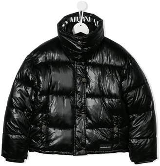 Calvin Klein Kids TEEN quilted jacket