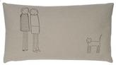 Pin It K Studio Women Plus Cat Pillow - Thyme With Black Stitch
