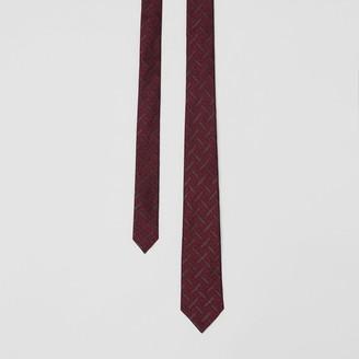 Burberry Classic Cut Monogram Silk Blend Jacquard Tie