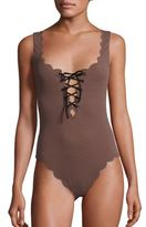 Marysia Swim Palm Springs One-Piece Lace-Up Maillot