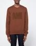Ami Crew Neck Sweatshirt in Cognac