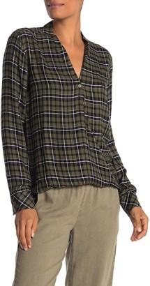 Cloth & Stone Long Sleeve Twist Front Shirt