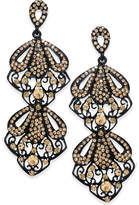 Thalia Sodi Jet-Tone Crystal Openwork Drop Earrings, Created for Macy's