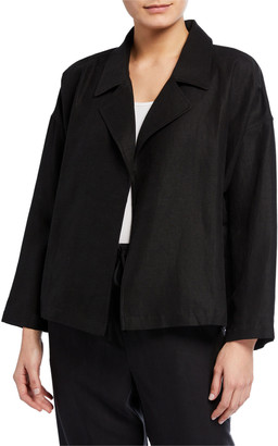 Eileen Fisher Slub Drape-Front Jacket