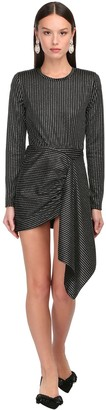 DANIELE CARLOTTA Striped Lurex Jersey Mini Dress