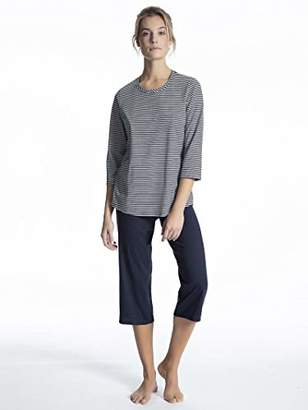 Calida Women's Soft Jersey Fun Pyjama Set, Peacoat Blue 488, (Size: Large)