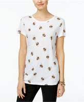 INC International Concepts Embellished Bee-Print T-Shirt, Only at Macy's