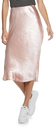 So Juniors' Satin Midi Skirt