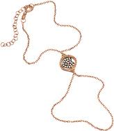 Crystal Heart and Rose Gold Harem Bracelet