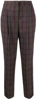 Pt01 tapered check trousers