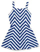 Ralph Lauren Sleeveless Striped Fit-and-Flare Jersey Dress, Blue, Size 5-6X
