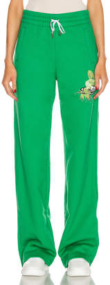 Off-White Off White Track Pant in Green | FWRD