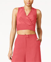Rachel Roy Zip-Back Crop Top, Only at Macy's
