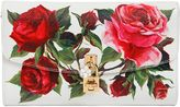 Dolce & Gabbana Roses Dauphine Print Leather Clutch