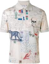 Alexander McQueen Letters from India polo shirt - men - Cotton - S