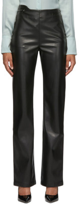 Commission Black Faux-Leather Fanny Trousers