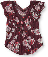Cape Juby Floral Ruffle Peasant Top