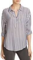 Rails Stripe Half Placket Shirt