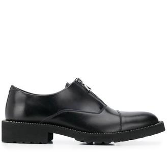 HUGO BOSS Zip Detail Slip-On Loafers