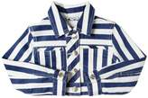 MonnaLisa Striped Stretch Gabardine Cropped Jacket