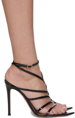 Gianvito Rossi Black Eclypse Heeled Sandals