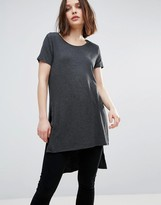 Only Jewel Long Slit Tee