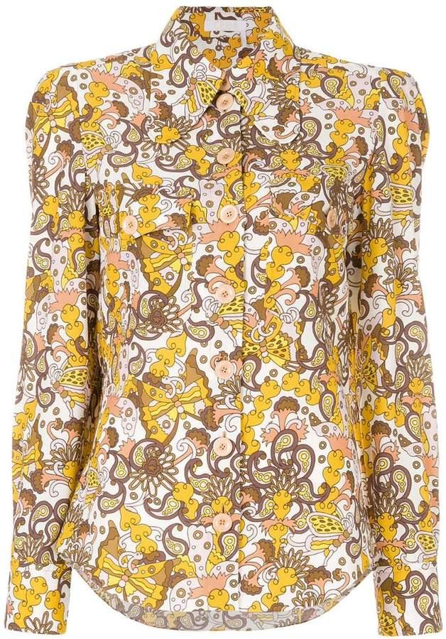 Chloé retro printed blouse