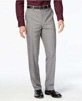 Alfani Men's Windowpane-Plaid Flat-Front Pants