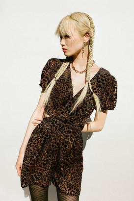 Urban Outfitters Olivia Velvet Cutout Romper