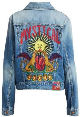 Mother The Pocket Bruiser Embroidery Denim Jacket