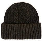 Topman Men's Brian Cable Knit Cap - Green