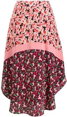 Stella McCartney floral panel curved-hem skirt
