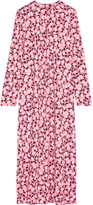Marni Printed Crepe Midi Dress - Pink