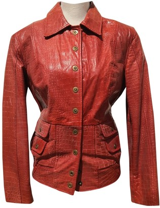 Guy Laroche Red Leather Jacket for Women Vintage