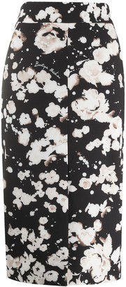 Boutique Moschino Floral Pencil Skirt
