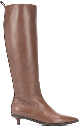 Brunello Cucinelli Pointed Toe Knee-High Boots